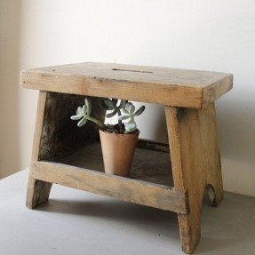 Wooden step stool vintage wooden step stool JLNFYWY
