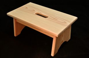 Wooden step stool wood step stool with handle hole unfinished pine 16 DZZHJEX