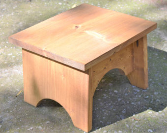 Wooden step stool wooden step stool; kitchen stool; wood stool; rustic step stool; bathroom  step VEVTBFL
