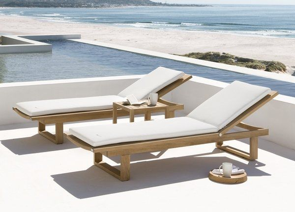 wooden sun loungers cushions ideas white cushions outdoor furniture ideas LBOURXM