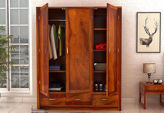 wooden wardrobe 3 door wardrobe designs DLEWOSZ