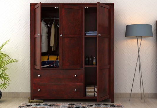 wooden wardrobe almirah designs for bedroom QFSDJFN