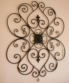 wrought iron wall decor metal wall art. wrought ... MQFYVUH