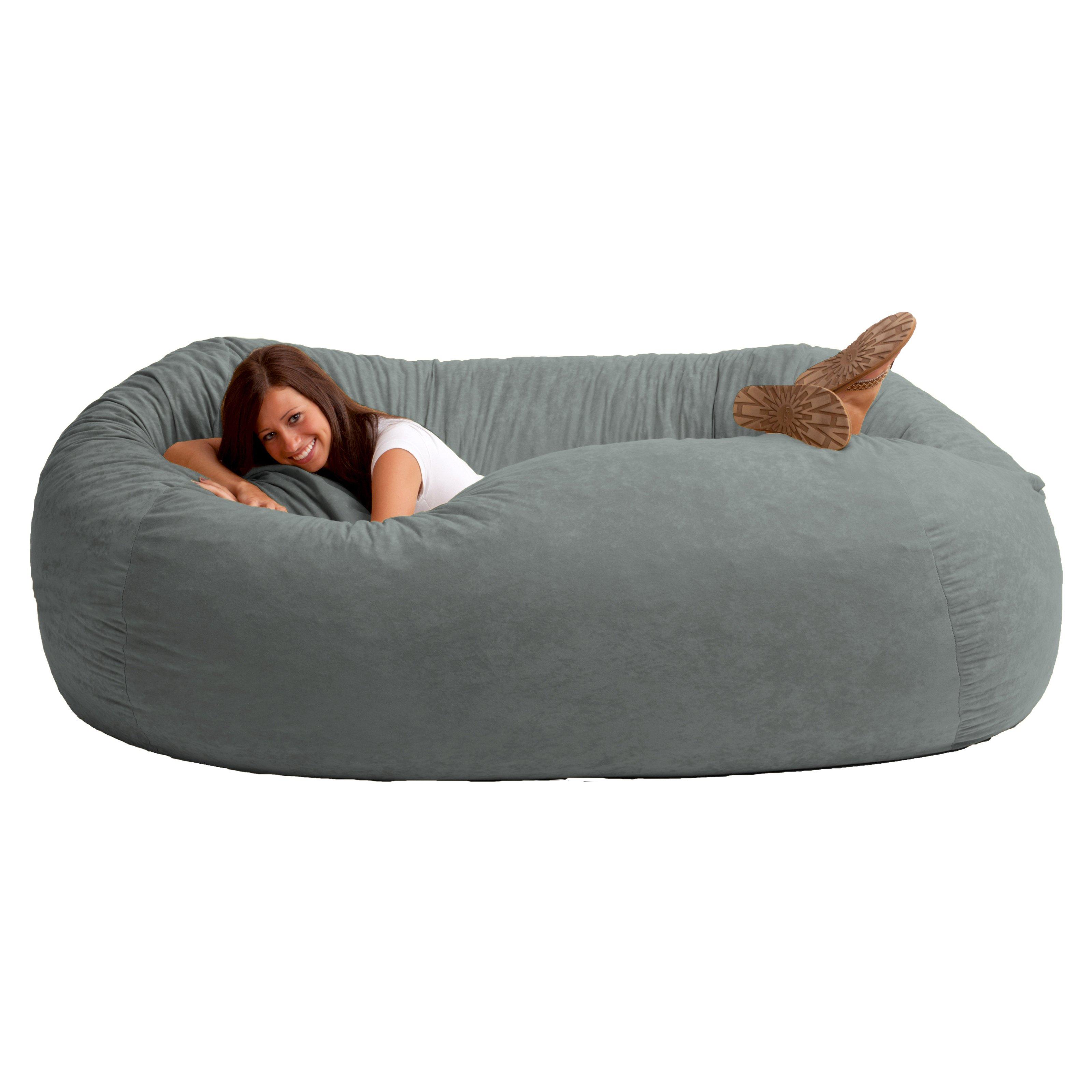xxl comfort suede bean bag sofa - bean bags at hayneedle ZEVAWRG