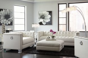... chaviano pearl white tufted loveseat media gallery 1 WFXDKNB