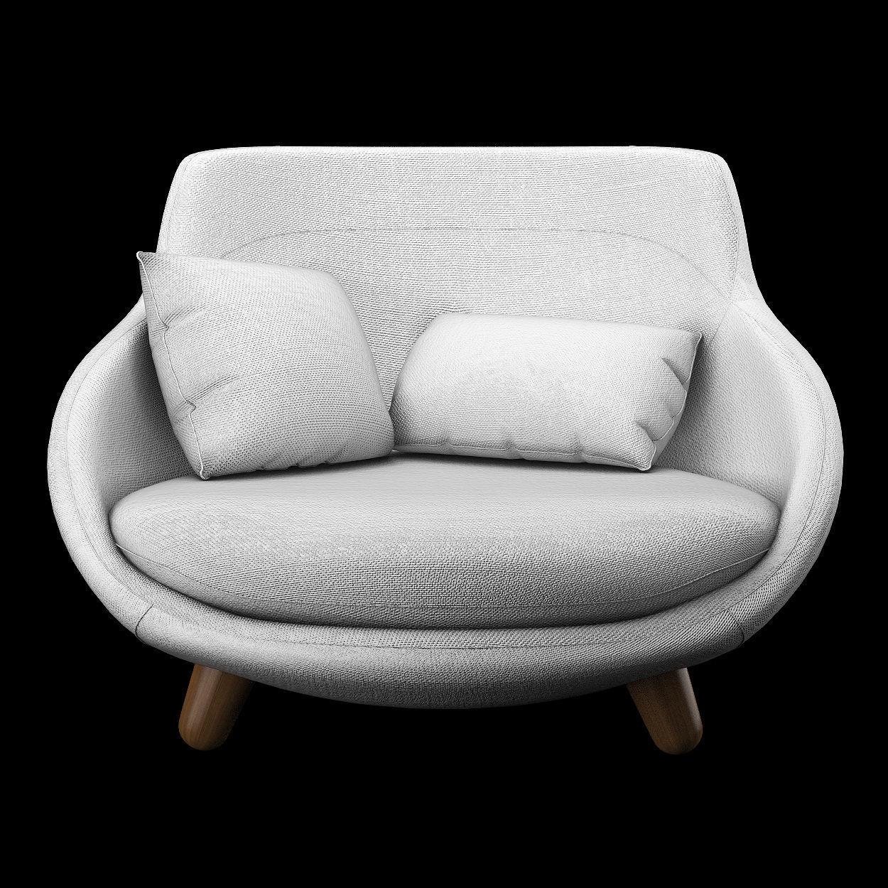 ... love sofa high back 3d model max obj fbx mtl 2 ... VRQSIIJ
