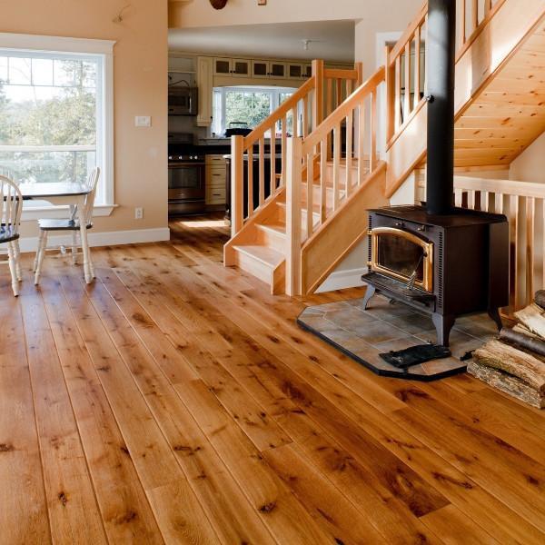 ... white oak hardwood flooring - gaylord wide plank flooring ... WAQETUA