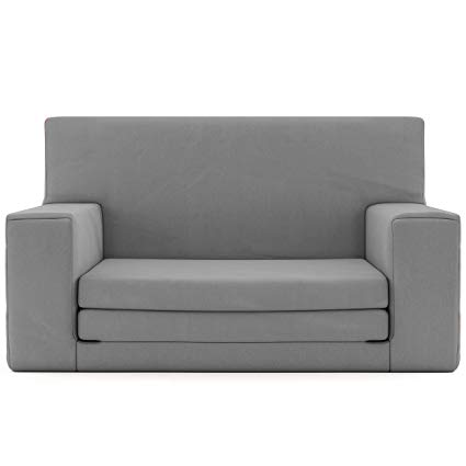 2 in 1 sofa 2 in 1 childrens sofa bed in steel grey with memory foam blend IRNCFTJ