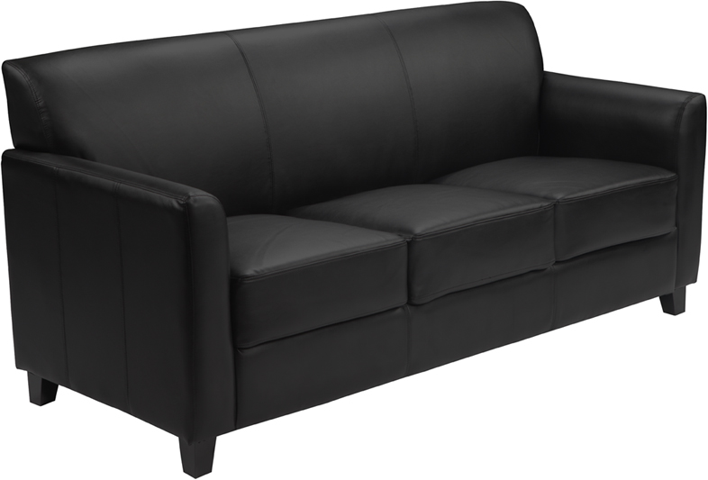 2 in 1 sofa extra soft black leather commercial sofa (ships in 1 - 2 days) FNAYPLJ