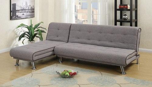 2 pcs grey polyfiber adjustable sectional sofa bed set GYGNEPZ