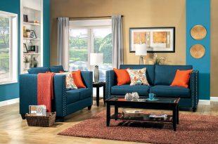 2 pcs turquoise blue sofa set JCAUOYB