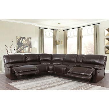 3 piece sectional sofa maril reclining 3-piece sectional sofa JQAVOFC