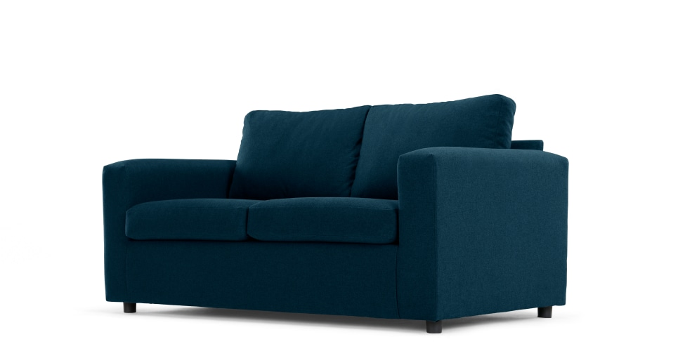 3 seater sofa beds a made essentials sofa bed, in shetland blue KHNIBLY