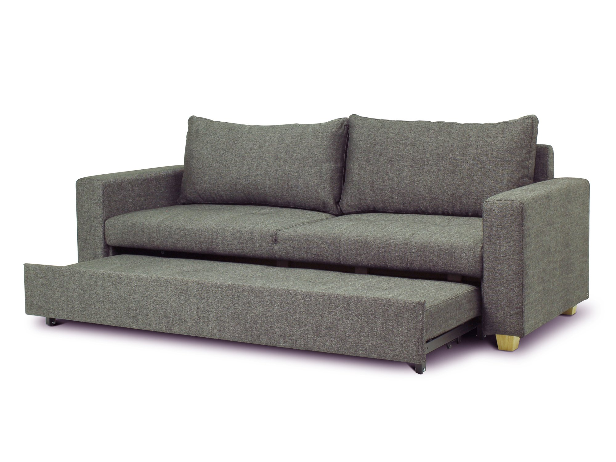 3 seater sofa beds sofa sleeper chicago chicago black fabric 3 seater sofa bed with wood legs, EXLAYYB