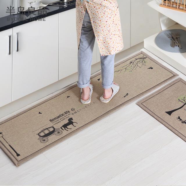 50x80cm+50x160cm/set anti-slip kitchen carpet/bath mat home entrance/ UNFCGXS
