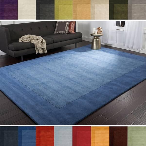 6×9 area rug hand loomed risor solid bordered wool area rug 7u0026 x27 6 x KOFBCTW