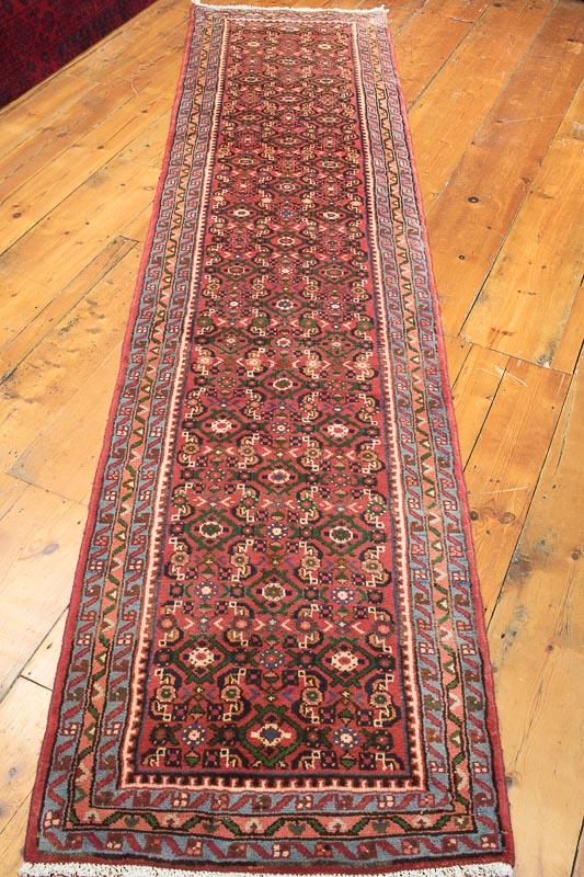 8482 persian hosseinabad carpet runner rug 73x302cm GPXUQTM