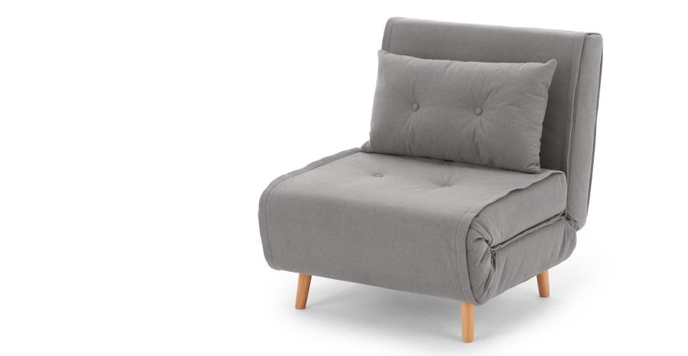 a single sofa bed, in marshmallow grey NJBTTMD