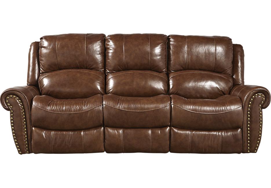 abruzzo brown leather reclining sofa VNWFXCB