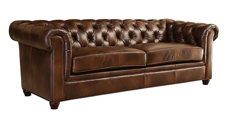 amazon.com: abbyson® foyer premium italian leather sofa: kitchen u0026 dining VYSURPU