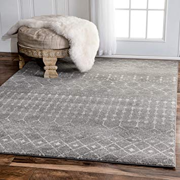 amazon.com: traditional vintage moroccan trellis dark grey area rugs, 9  feet by KHZVIPE