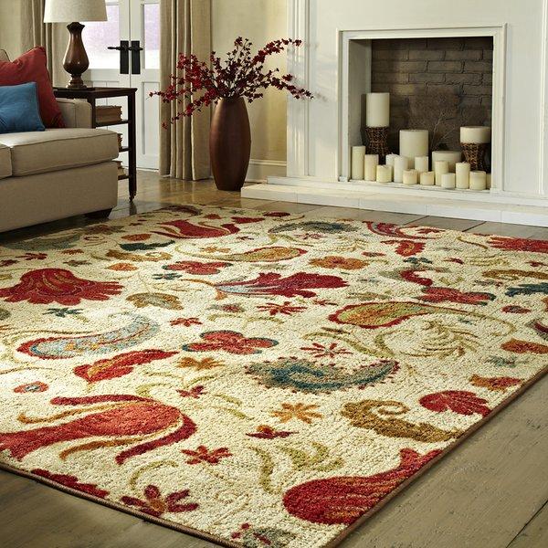 andover mills virginia beige/red area rug u0026 reviews | wayfair.ca JETZWZO