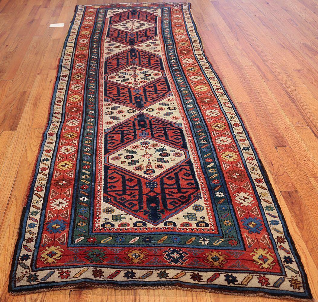 antique caucasian kazak runner rug 46425 whole nazmiyal VNORKUP
