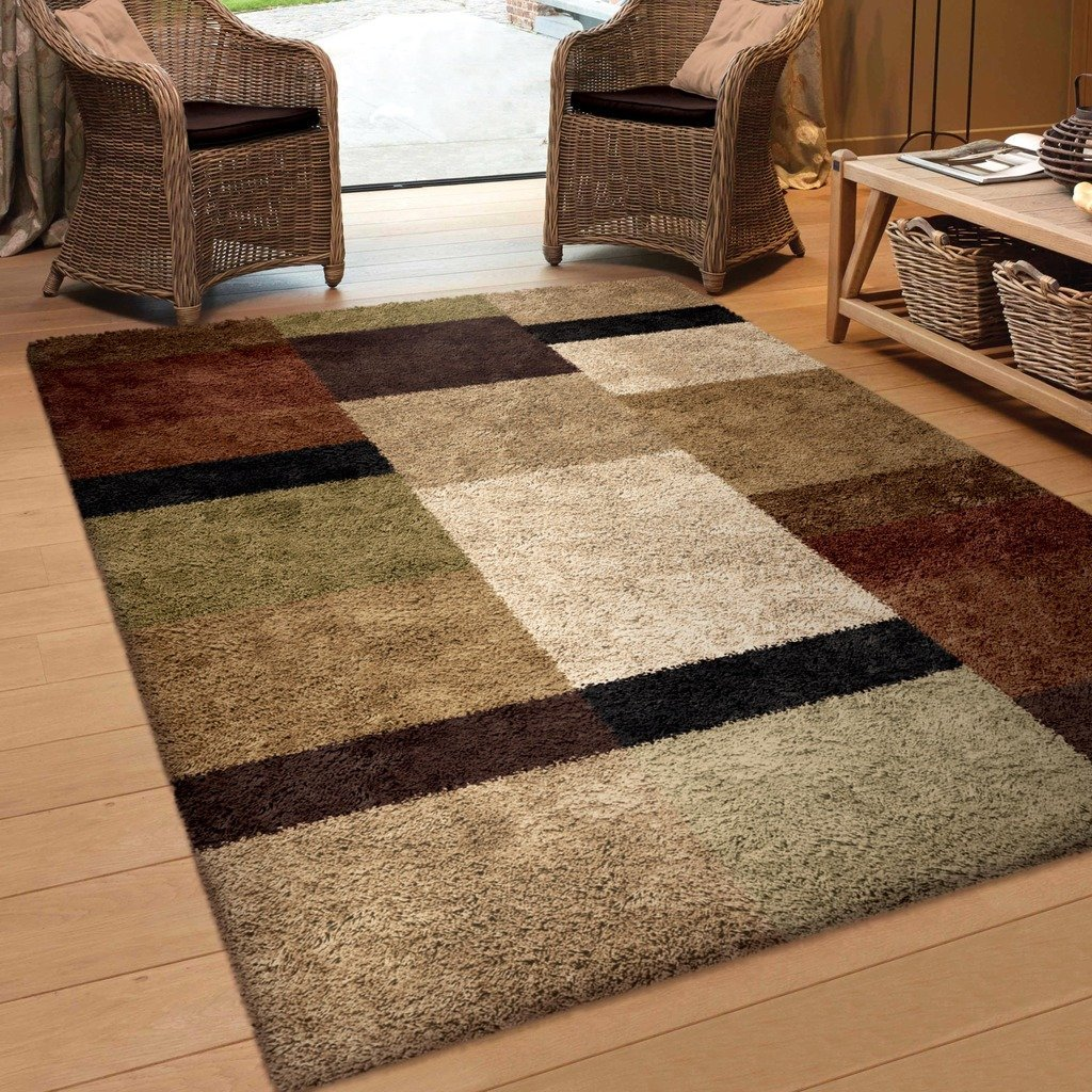 Area carpets amazon.com: orian rugs geometric treasure box brown area rug (5u00273 IYESOEB