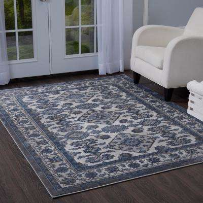 area rugs bazaar elegance gray/blue 8 ft. x 10 ft. indoor area rug UFDHNXM