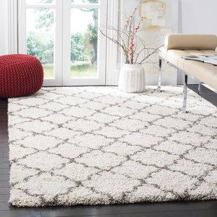 area rugs samira shag ivory/gray area rug NREJYJD