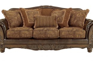 ashley furniture fresco durablend antique sofa click to enlarge ... KWQZUKY