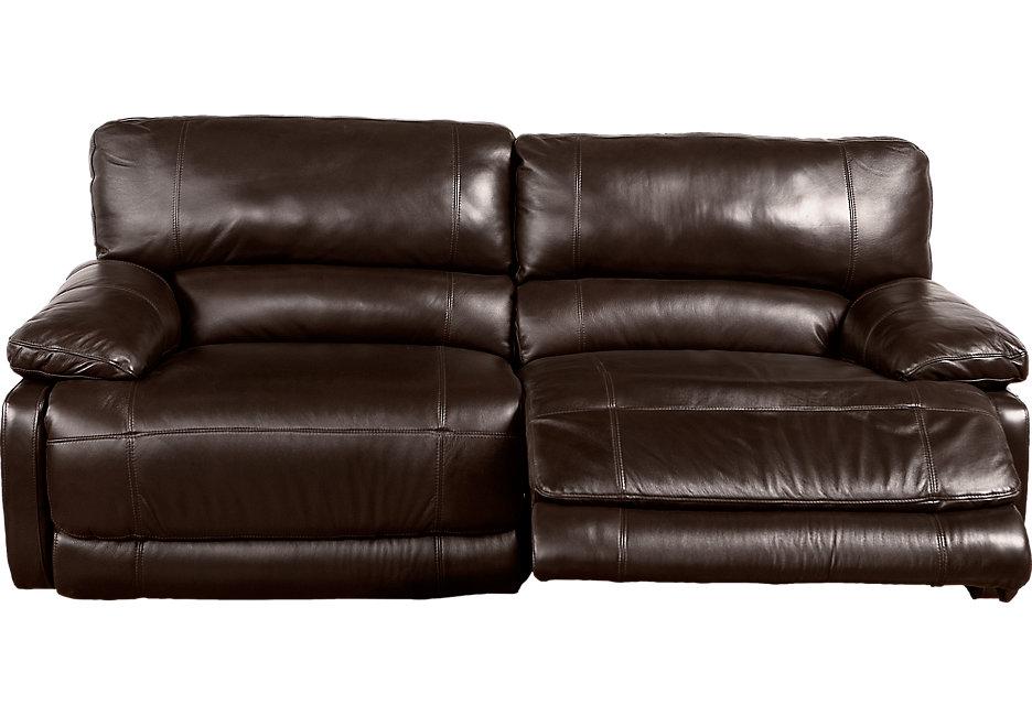 auburn hills brown leather reclining sofa QLTCVPM