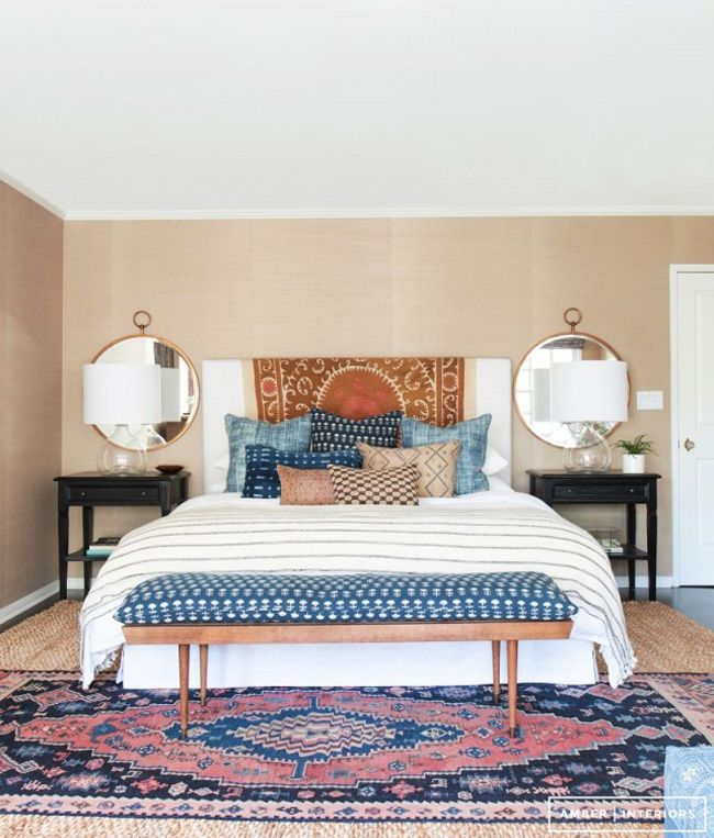 awesome bedroom rugs layering rugs turkish over jute bedroom by amber lewis RDODGWU