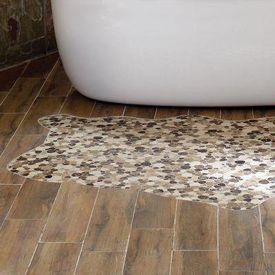 bathroom floor tile mosaic OBJOTEZ