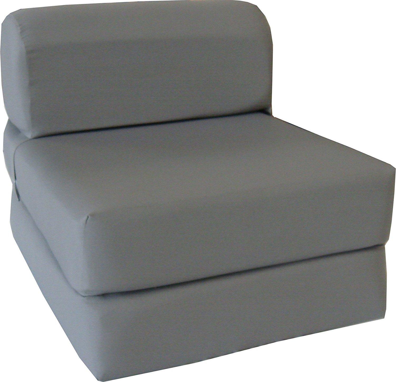 bed with sofa amazon.com: gray sleeper chair folding foam bed sized 6 XOZASUJ