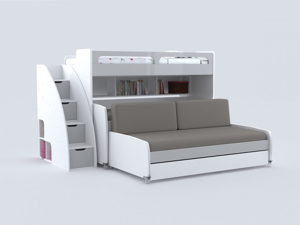 bed with sofa bel mondo grande twin bunk bed for 4 with sofa COSPOFM