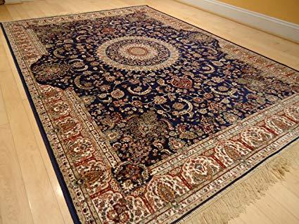 bedroom mats new silk persian navy rug high quality silk rug navy door mat kitchen QTMEEUX