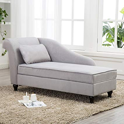bedroom sofa chair tongli chaise lounge storage sofa chair couch for bedroom or living  room(gray) GOTGSFH