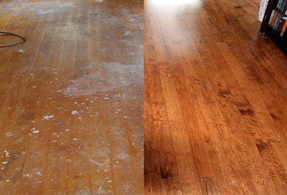 before and after wood floor refinishing VOFYFSL