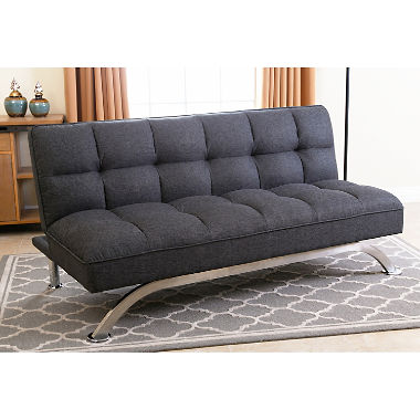 belize gray click clack futon sofa bed DXZBFTG
