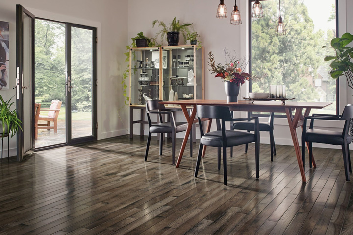 best hardwood floors inspired gray hickory solid hardwood in the kitchen - sahrr39l4ig XCBFIAM