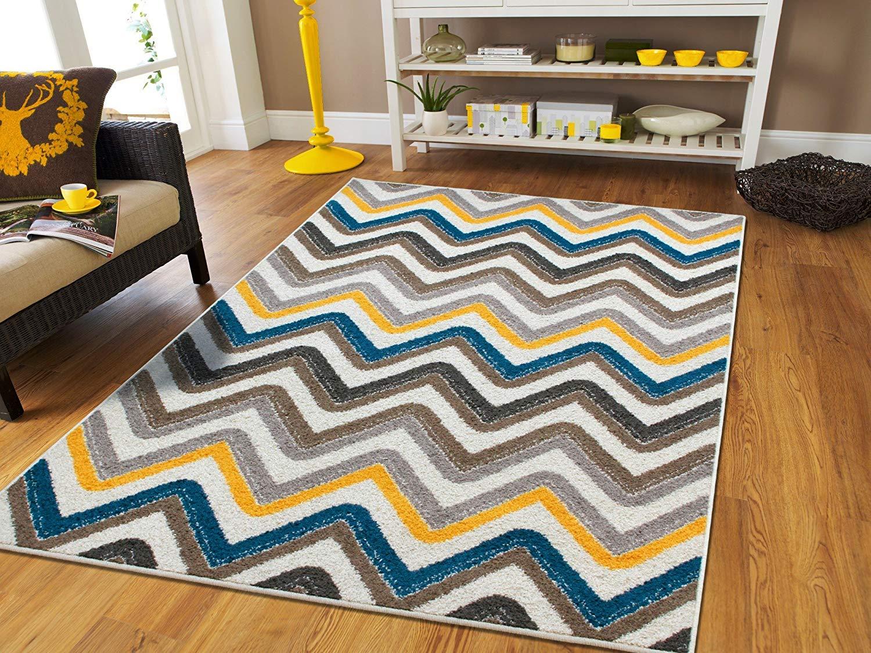 best rugs amazon.com: new fashion zigzag style large area rugs 8x11 clearance under  100 NGUBGPM