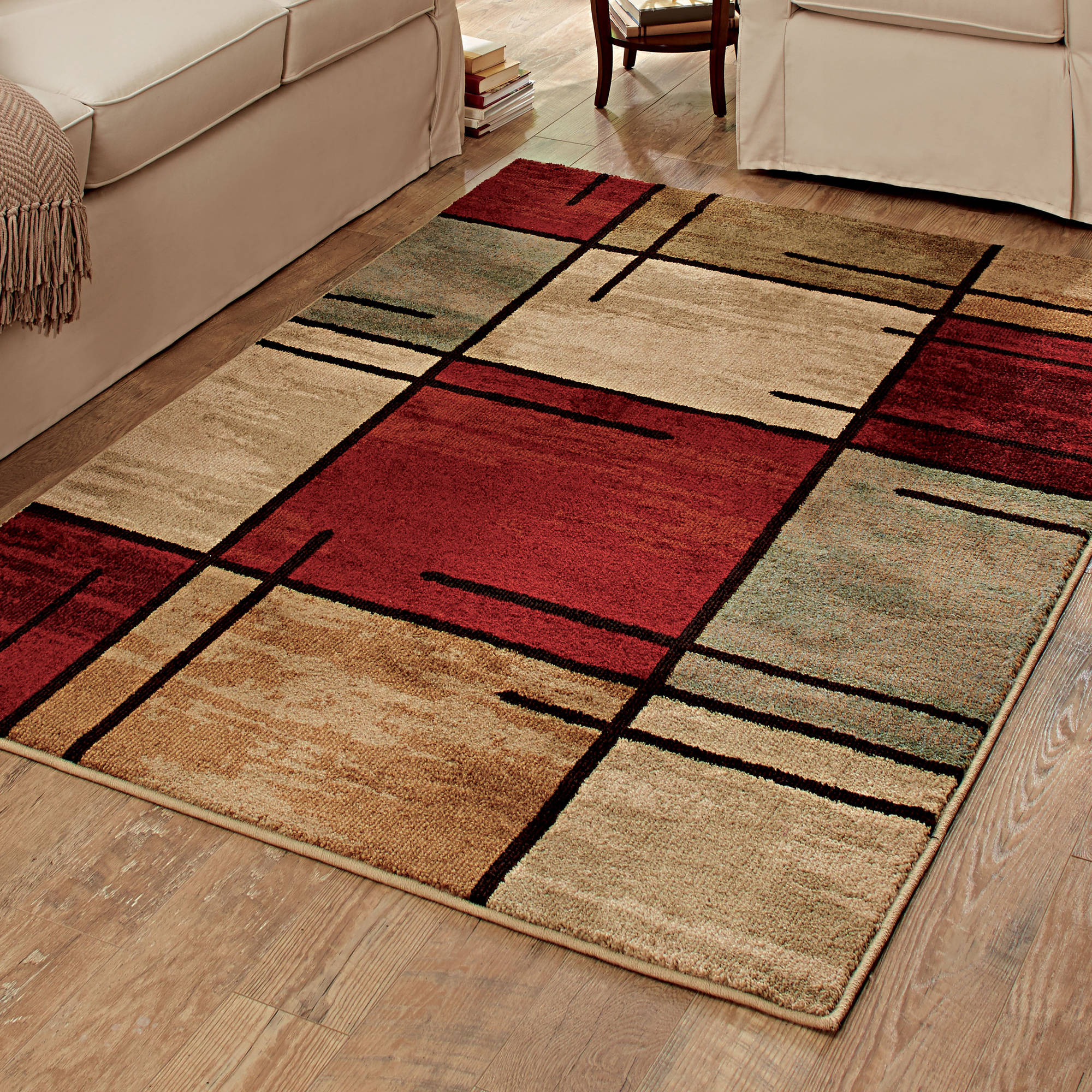 better homes and gardens spice grid area rug UDZJBRC