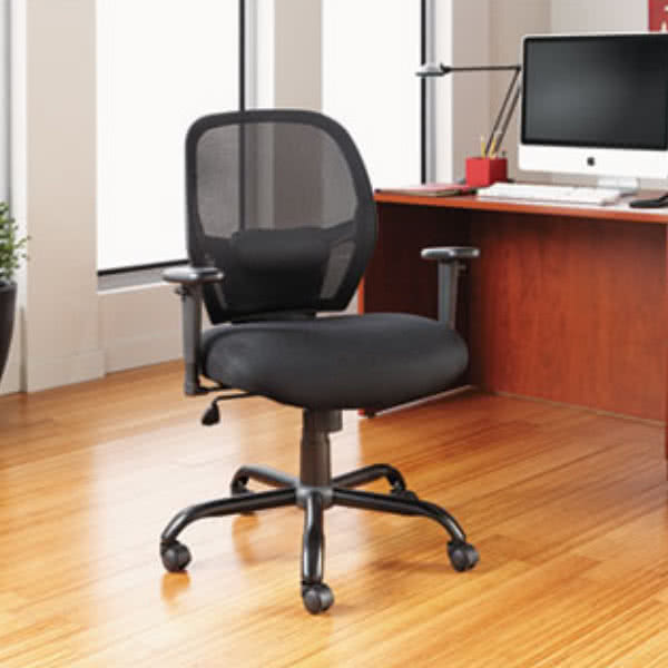 big office chairs alera alemx4517 merix black mid-back big u0026 tall mesh office chair with IYDUUDQ