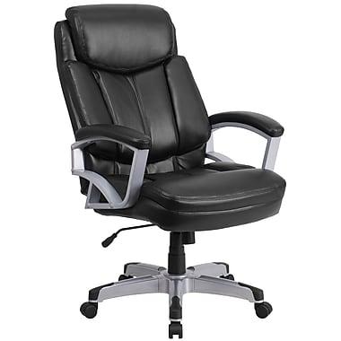 big office chairs flash furniture hercules series go18501lea 500lb capacity big and tall  black leather KRDTUGP