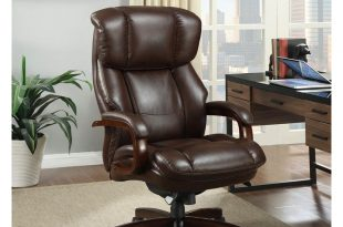 big office chairs la-z boy fairmont biscuit brown bonded leather executive office chair DGPJWBA
