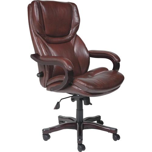 big office chairs serta executive big u0026 tall bonded leather office chair, brown QKDPEDY