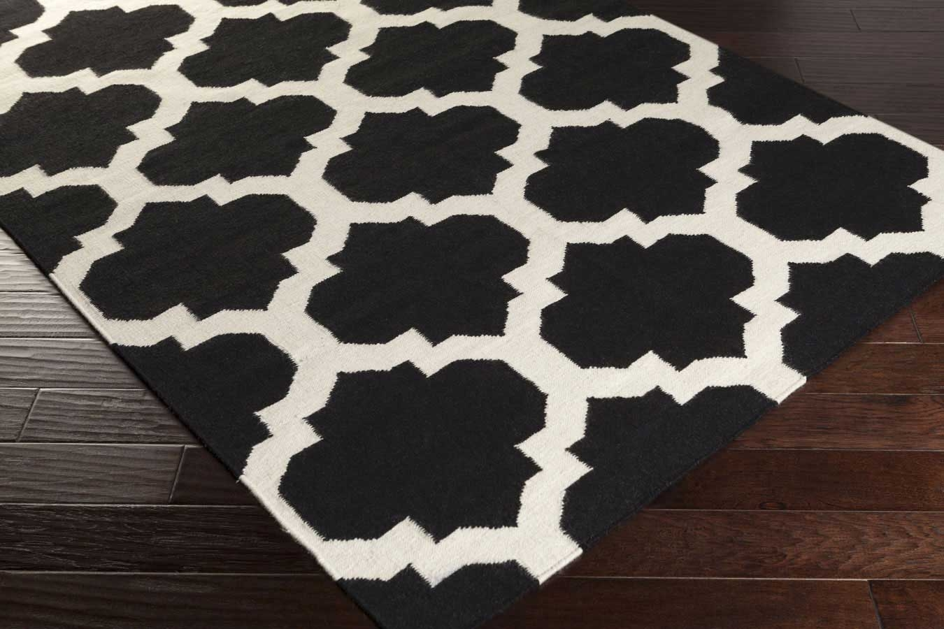 Black and white area rugs artistic weavers york harlow awhd1028 black/white area rug JGHYSDA