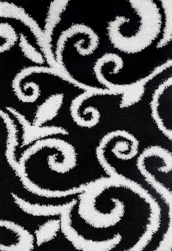 Black and white area rugs black white floral plush shag area rugs ... VTRKQCN