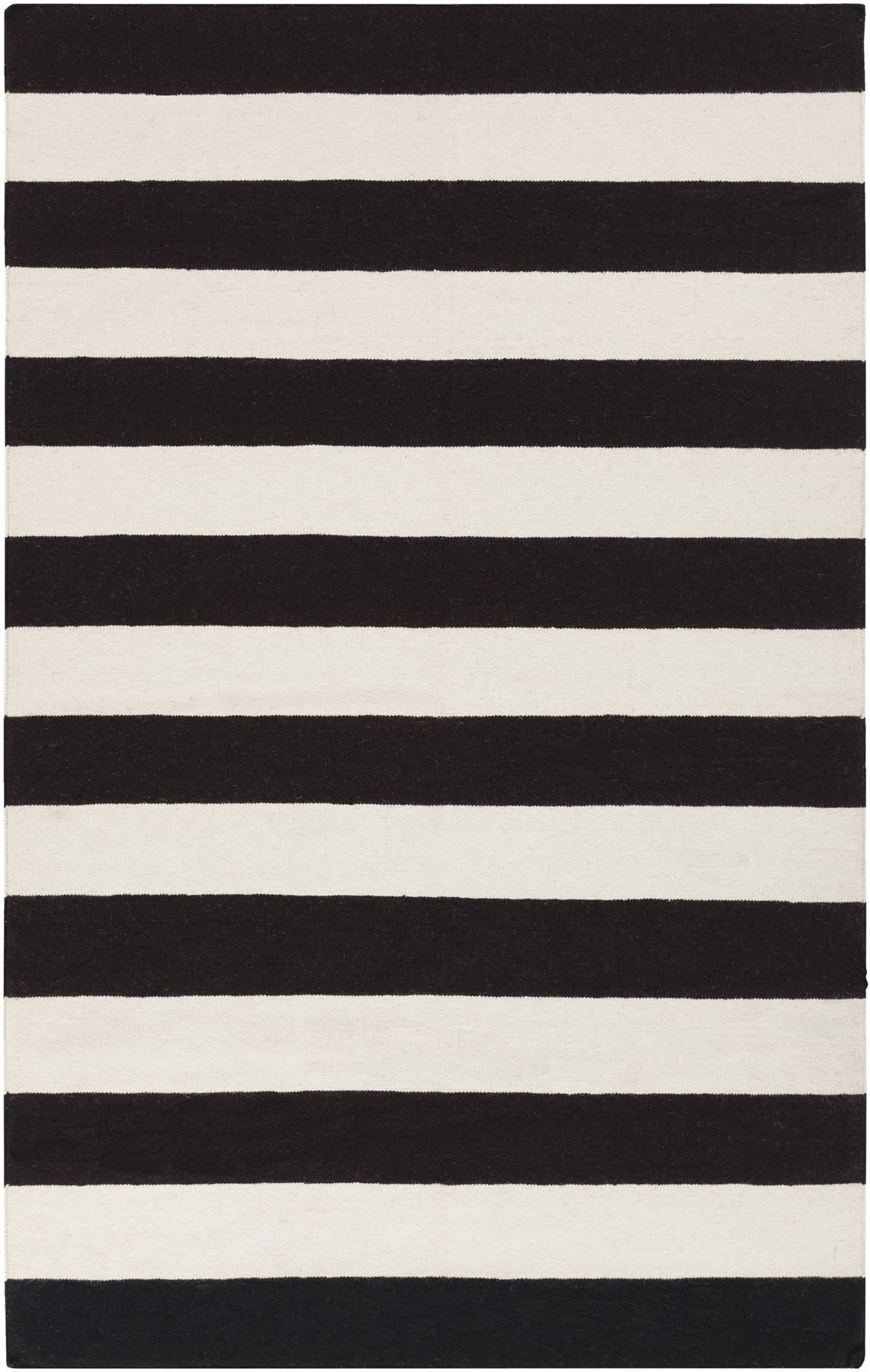 Black and white area rugs frontier collection 100% wool area rug in jet black and white design by CYCTNPA